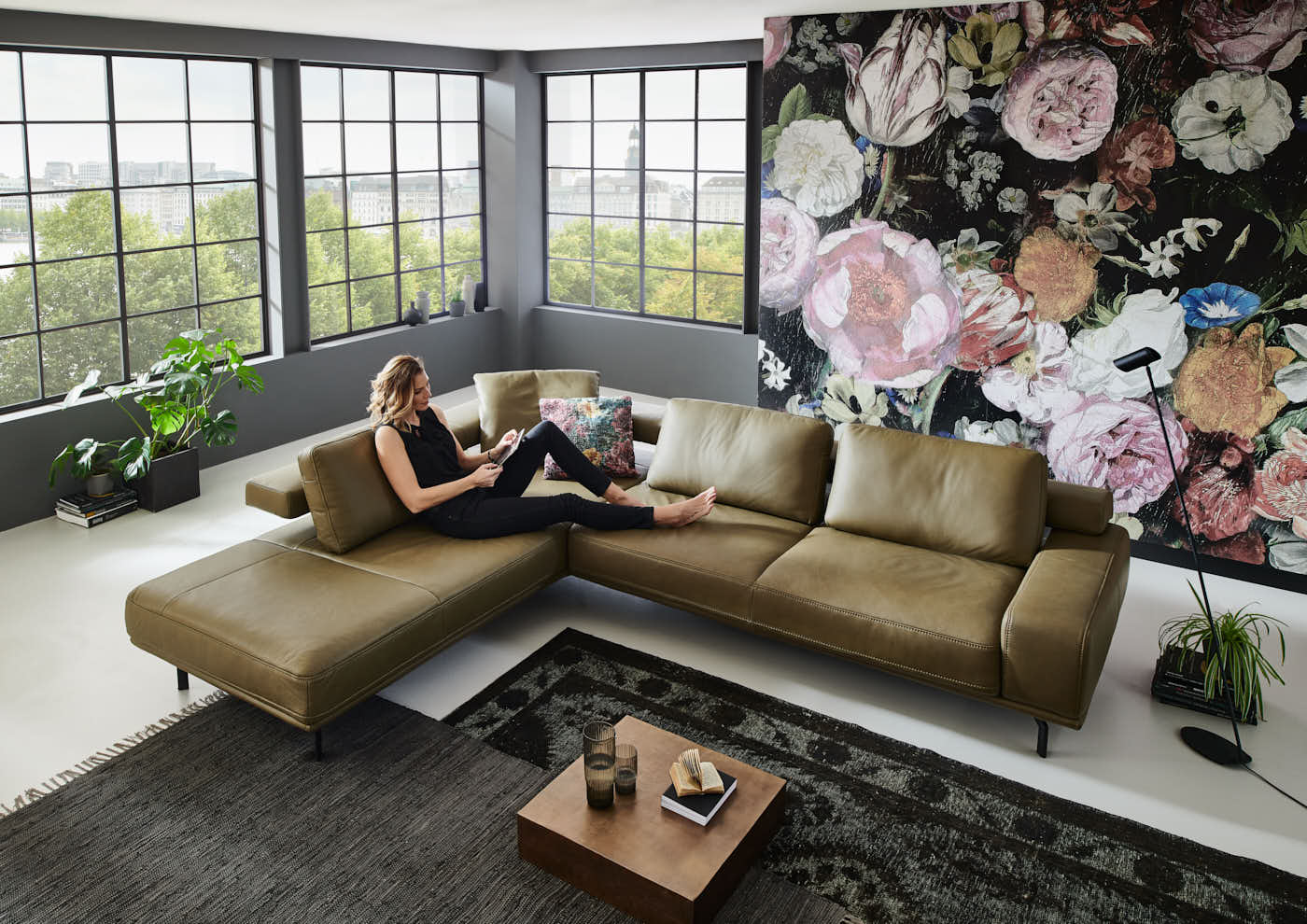 Com4Lux Sofa Sunrose Liegeflaeche